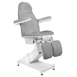 Fotel kosmetyczny elektr. basic 156 pedi 3 siln. szary