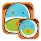 Zestaw naczyń skip hop zoo - talerz i miseczka - piesek