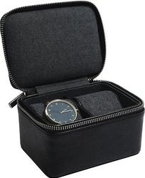 Pudełko na zegarki podróżne stackers dwukomorowe czarne