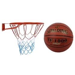 Obręcz do kosza kimet euro standard 45 cm + piłka do koszykówki spalding tf-1000 legacy