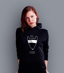 Bull terror damska bluza z kapturem czarna l