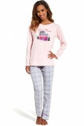 Cornette 655126 go to rome różowy piżama damska