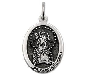 Medalik srebrny z wizerunkiem matki bożej licheńskiej med-mbli-01