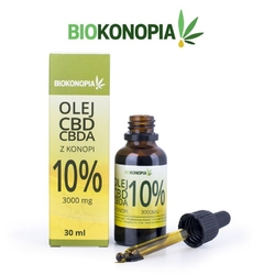 Olejek konopny 10 3000mg cbd + cbda 30ml biokonopia  oferta promocyjna  wysyłka 0 zł