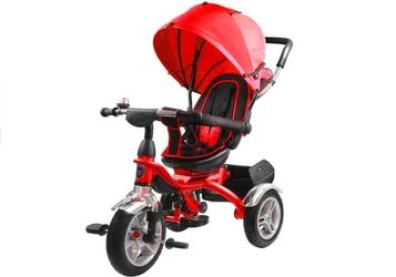 Leantoys pro500 czerwony rowerek trójkołowy + prezent 3d