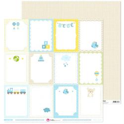 Etykiety dla chłopczyk Azul Bebe 30,5x30,5 cm - 02
