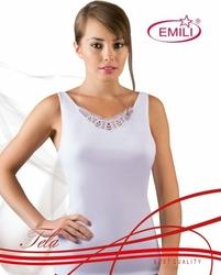 Emili Tela plus biała koszulka