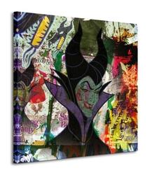 Maleficent graffiti - obraz na płótnie