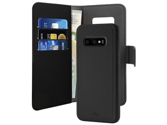 Etui obudowa puro wallet detachable do samsung galaxy s10e czarne