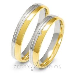 Obrączki ślubne dwukolorowe złoty skorpion – wzór au-a225