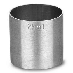 miarka barmańska 25 ml ze stali nierdzewnej
