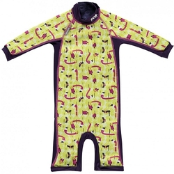 Close, Ocieplany kombinezon do pływania dla dziecka, Flaming Lala and Bugsy, Large 18-24 miesięcy