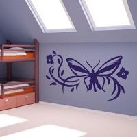Szablon malarski motyl w kwiatach 1247