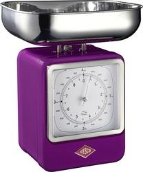 Waga kuchenna z zegarem retro fioletowa