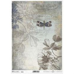 Papier ryżowy ITD A4 R1066 kwiaty