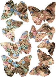 Naklejki kolorowe motylki motyle new 3d