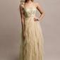 Postrzępiona złota sukienka maxi z brokatem 2256