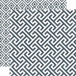 Papier 30,5x30,5 cm Style EssentialGraphite Geome - 03
