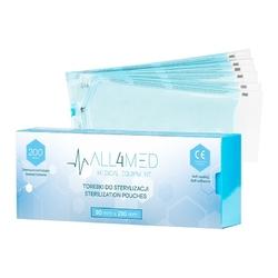 All4med torebki do sterylizacji w autoklawie 90mm x 230 mm 200szt
