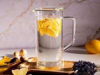 Dzbanek szklany  z podwójną ścianką i dnem termiczny do napojów altom design andrea 950 ml
