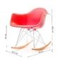 Fotel bujany na taras tunis wood czerwony