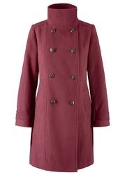 Krótki płaszcz bonprix czerwony klonowy