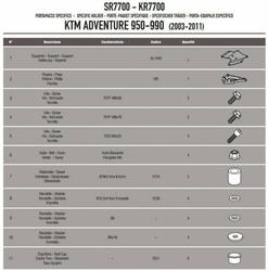 Kappa KR7700 Stelażcentralny Ktm Adventure 950990 03-11