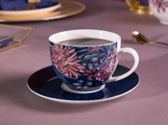 Filiżanka do kawy i herbaty porcelanowa ze spodkiem altom design margo 200 ml
