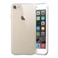 Etui silikonowe przezroczyste apple iphone 7 + szkło mocolo czarne - czarny