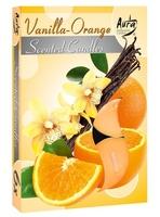 Bispol, wanilla-orange, podgrzewacze zapachowe, 6 sztuk