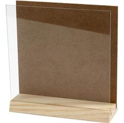 Drewniana ramka z szybką 15x15 cm - 15X15CM