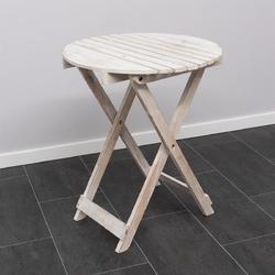 Stół rozkładany białe drewno okrągłe 50cm średnicy