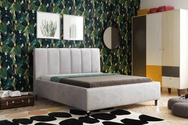 Tapicerowane łóżko do sypialni jasmine 160x200 cm