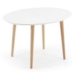 Stół rozkładany oakland oval 120200x90cm biały