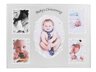 Ramka na zdjęcia babys christening na 5 zdjęć grawer