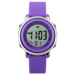 Zegarek dziecięcy DATOWNIK LED SKMEI 1100 - PURPLE - PURPLE