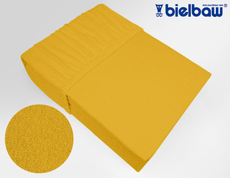 Prześcieradło frotte z gumką Bielbaw żółte - żółty