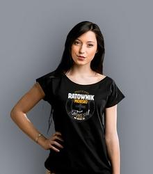 Ratownik morski t-shirt damski czarny m