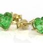 Kolczyki z zółtego złota z zielonymi topazami lpk-74z - żółte  topaz green