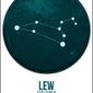 Znak zodiaku, lew - plakat wymiar do wyboru: 42x59,4 cm