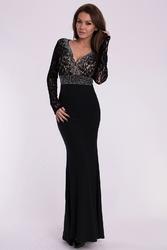 Evalola sukienka - czarny 10007-1