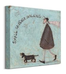 Small sausage walking - obraz na płótnie