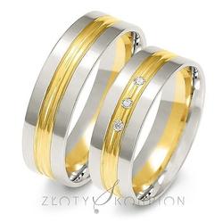 Obrączki ślubne dwukolorowe złoty skorpion – wzór au-a224