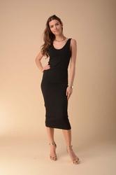 Stylowa sukienka na ramiączkach czarna