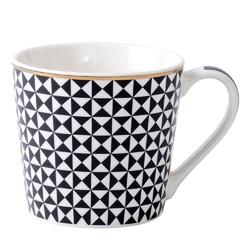 Kubek do kawy i herbaty porcelanowy altom design wysoki 350 ml, dekoracja modern black iv