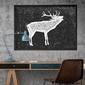 Skandynawski jeleń - designerski plakat w ramie , wymiary - 40cm x 50cm, kolor ramki - czarny