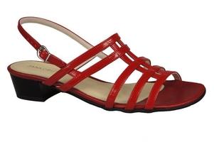Obuwie damskie sandały płaski obcas czerwone 622 elitabut - czerwone