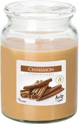 Bispol, snd99, świeca zapachowa słoik z wieczkiem, cynamon, 1 sztuka