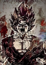 Legends of bedlam - goku, the limit breaker, dragon ball - plakat wymiar do wyboru: 20x30 cm