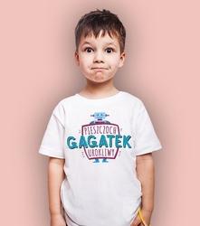 Gagatek urokliwy t-shirt dziecięcy biały 122
